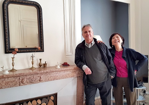 Jim and Sachiko at My Home in Dijon