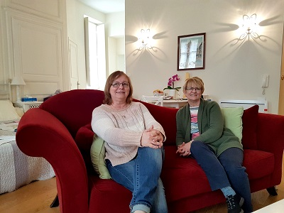 Michele et Joann chez My Home in Dijon, April 2019)